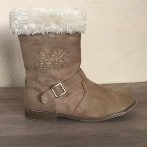 Michael Kors Girls Suede and Fur Boots